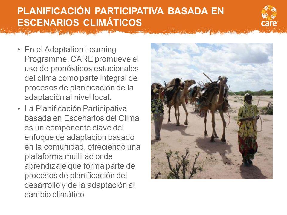 PLANIFICACIÓN PARTICIPATIVA BASADA EN ESCENARIOS CLIMÁTICOS