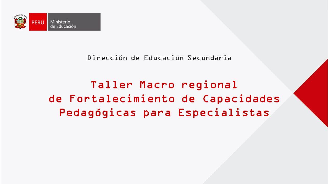 de Fortalecimiento de Capacidades Pedagógicas para Especialistas ...