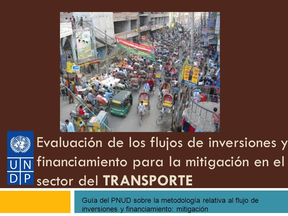 Evaluación de los flujos de inversiones y financiamiento para la mitigación en el sector del TRANSPORTE