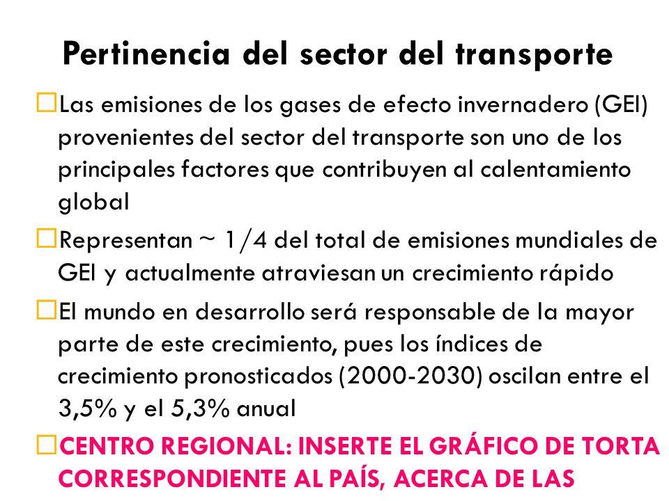 Pertinencia del sector del transporte