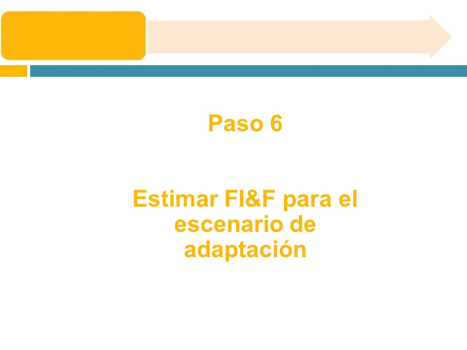 Estimar FI&F para el escenario de adaptación