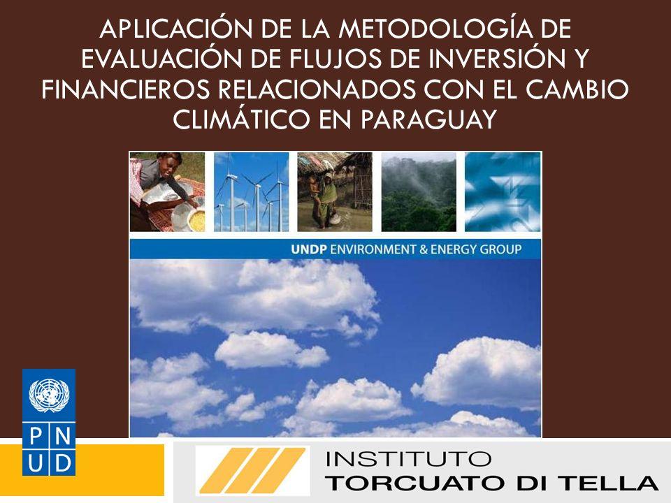 APLICACIÓN DE LA METODOLOGÍA DE EVALUACIÓN DE FLUJOS DE INVERSIÓN Y FINANCIEROS RELACIONADOS CON EL CAMBIO CLIMÁTICO EN PARAGUAY