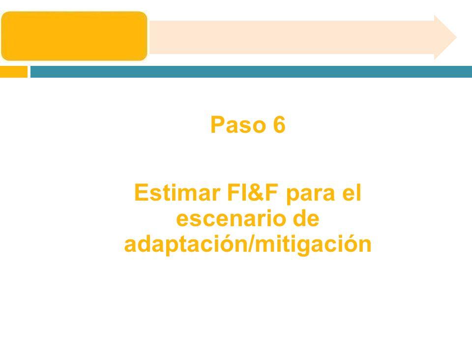 Estimar FI&F para el escenario de adaptación/mitigación