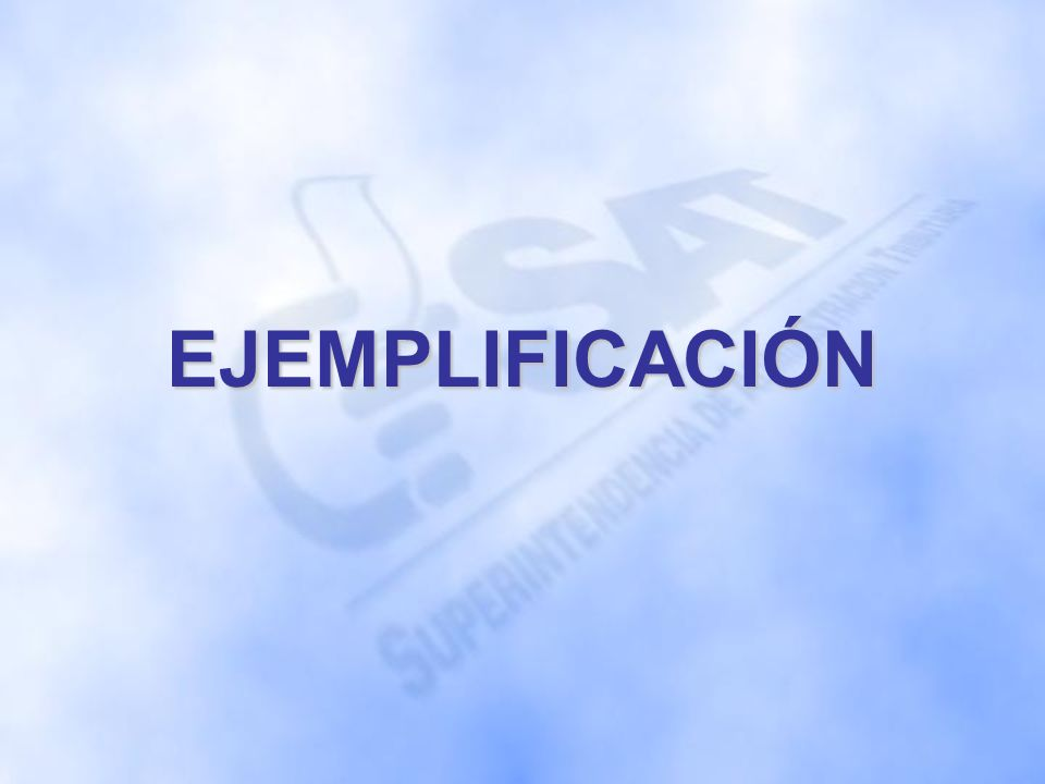 EJEMPLIFICACIÓN
