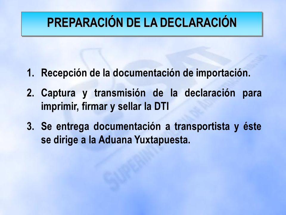 PREPARACIÓN DE LA DECLARACIÓN