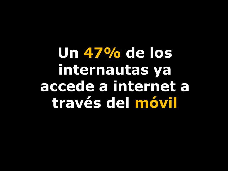Un 47% de los internautas ya accede a internet a través del móvil