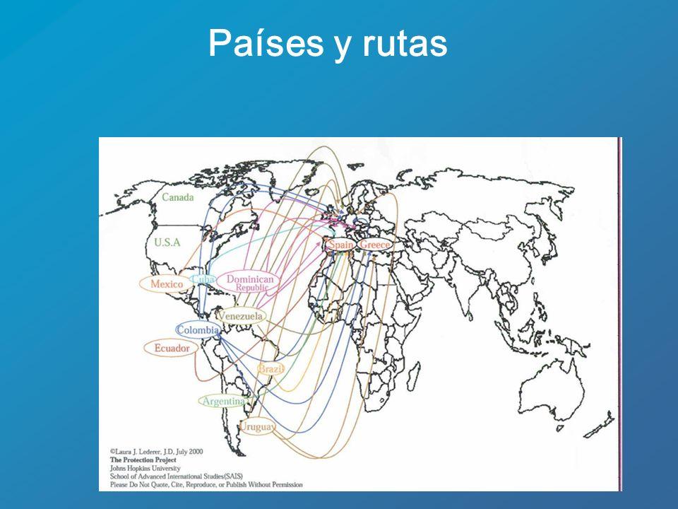 Países y rutas