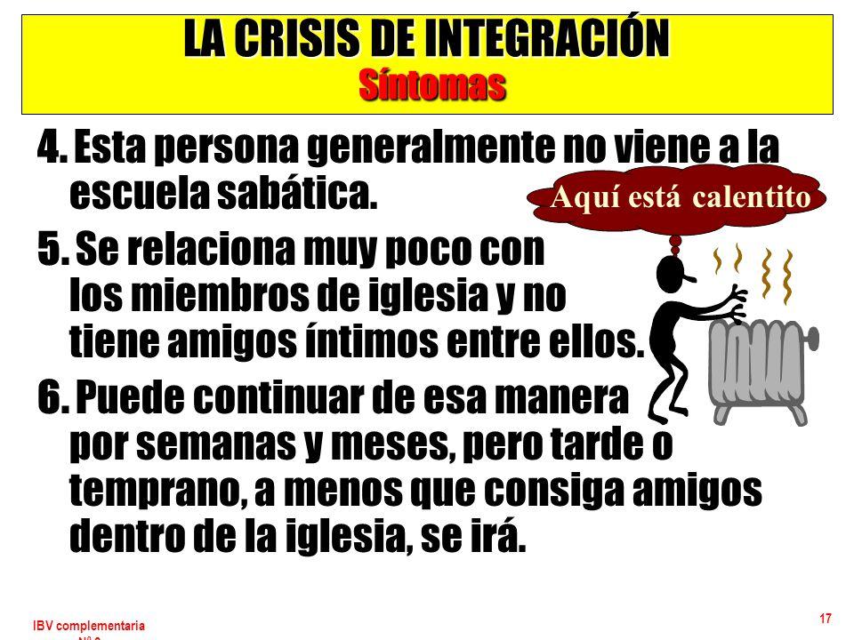 LA CRISIS DE INTEGRACIÓN Síntomas