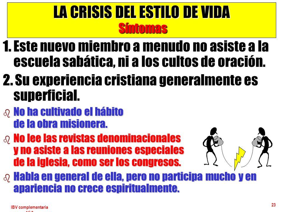 LA CRISIS DEL ESTILO DE VIDA Síntomas