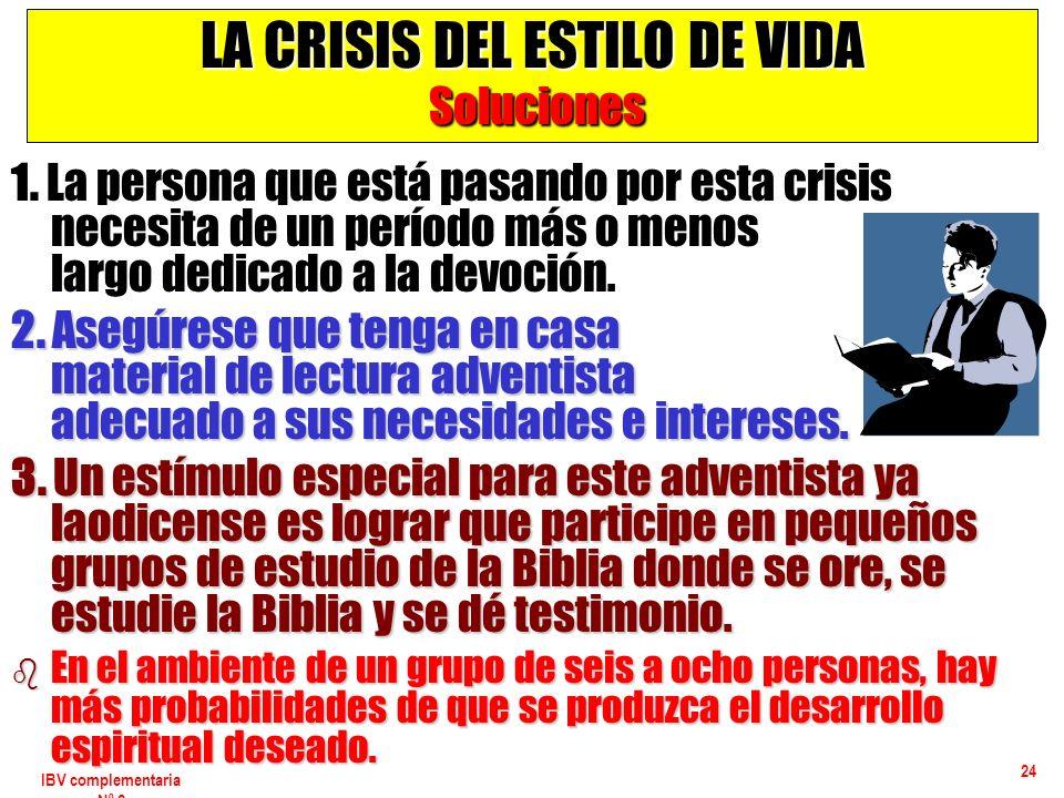 LA CRISIS DEL ESTILO DE VIDA Soluciones