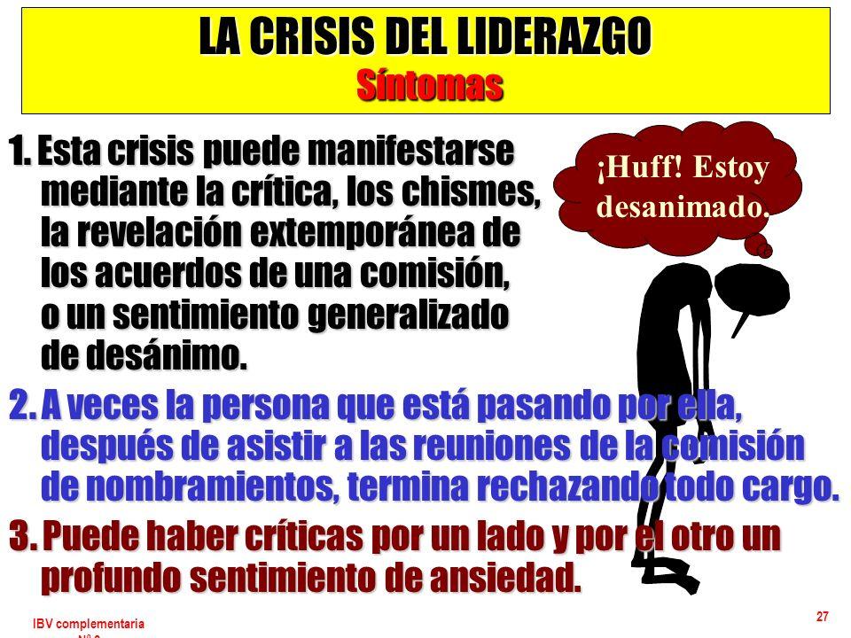 LA CRISIS DEL LIDERAZGO Síntomas