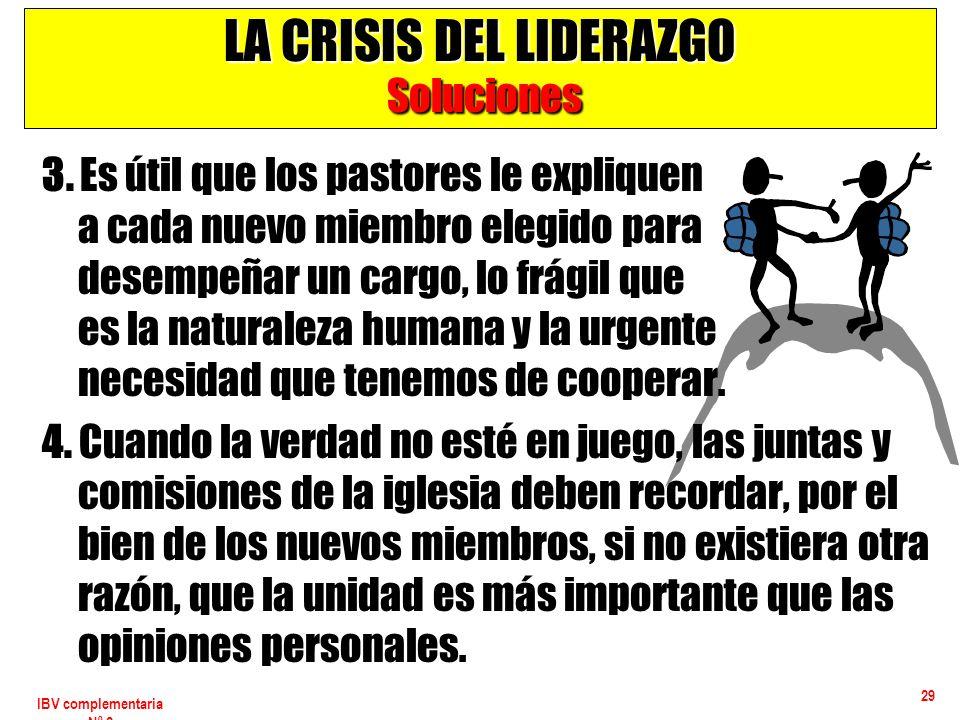 LA CRISIS DEL LIDERAZGO Soluciones