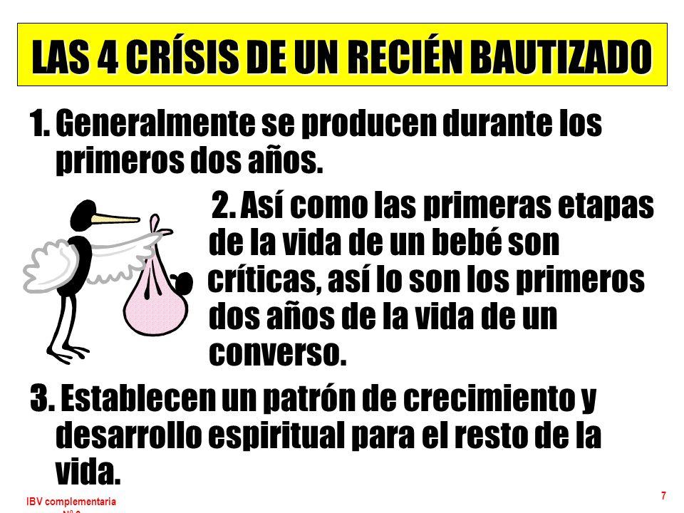 LAS 4 CRÍSIS DE UN RECIÉN BAUTIZADO