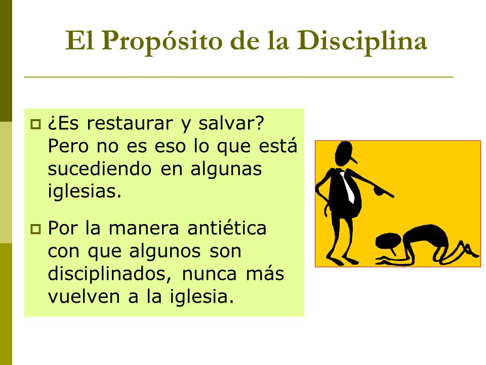 El Propósito de la Disciplina