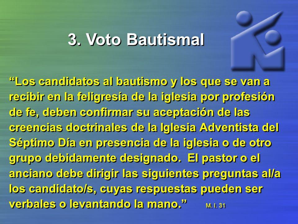 3. Voto Bautismal
