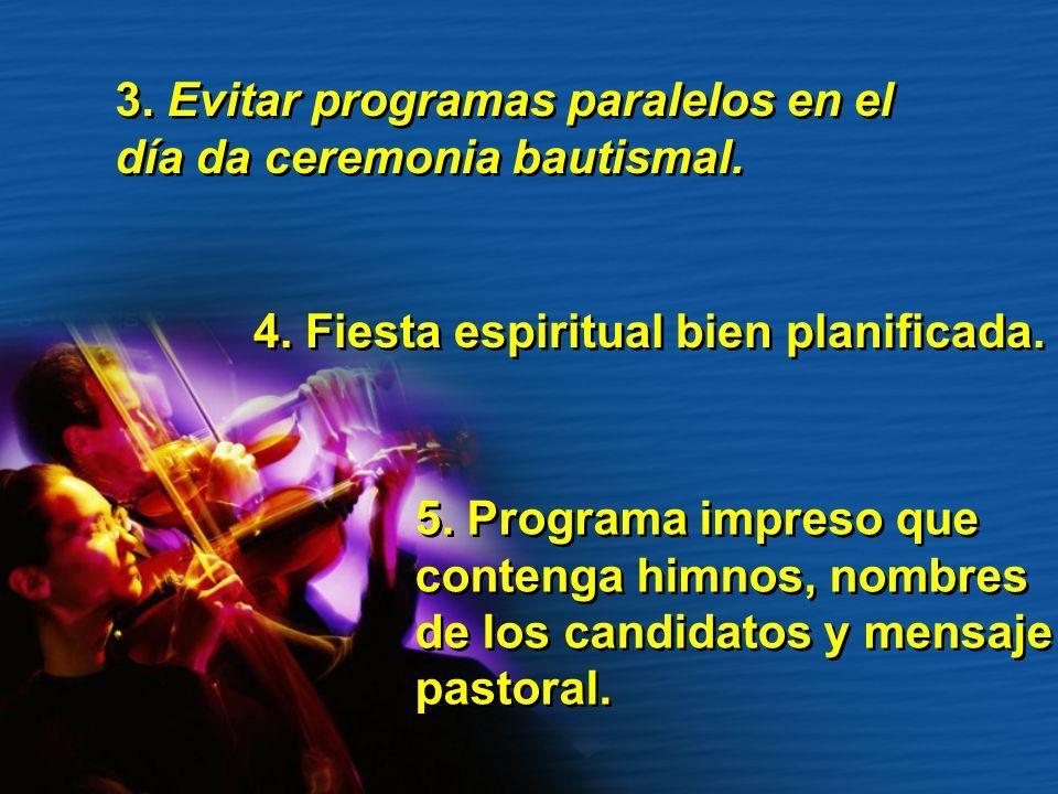 3. Evitar programas paralelos en el