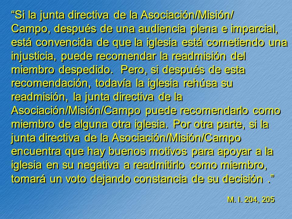 Si la junta directiva de la Asociación/Misión/