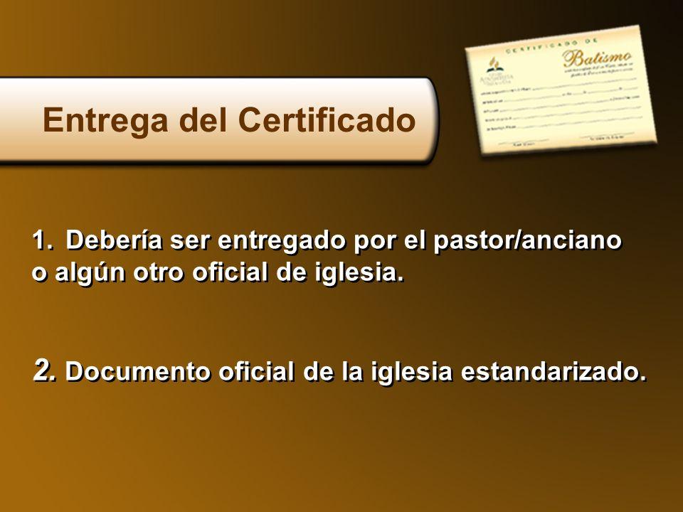 Entrega del Certificado