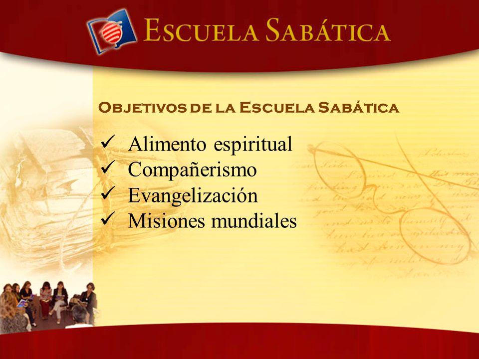 Alimento espiritual Compañerismo Evangelización Misiones mundiales