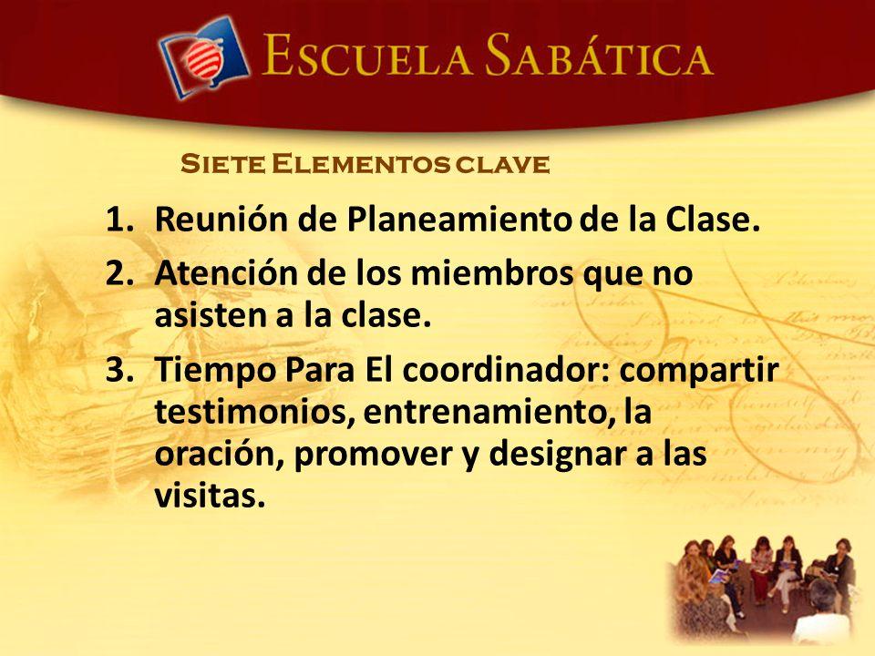 Reunión de Planeamiento de la Clase.