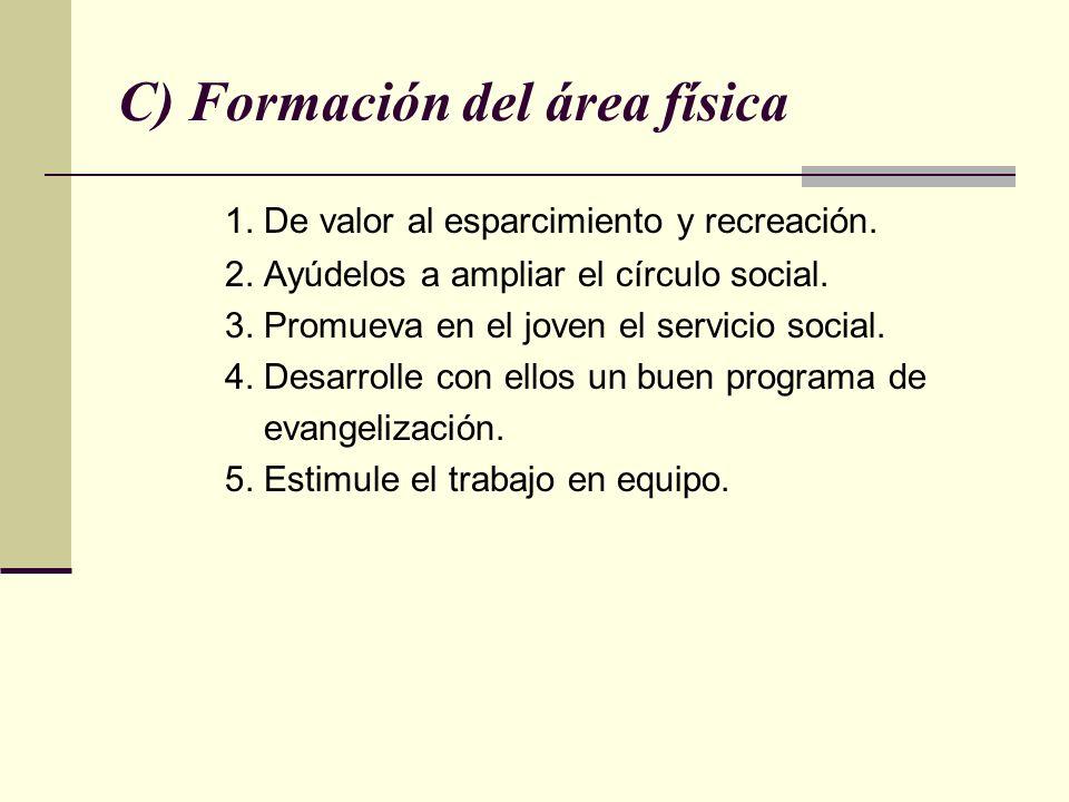 C) Formación del área física