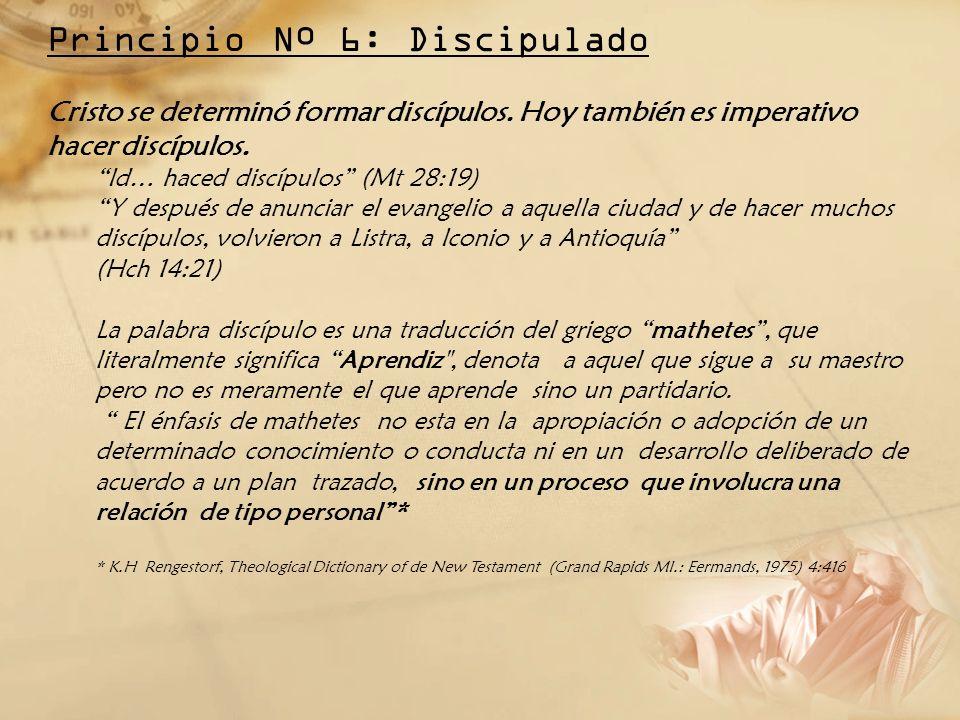 Principio Nº 6: Discipulado