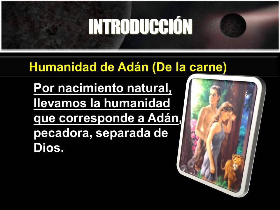 INTRODUCCIÓN Humanidad de Adán (De la carne)