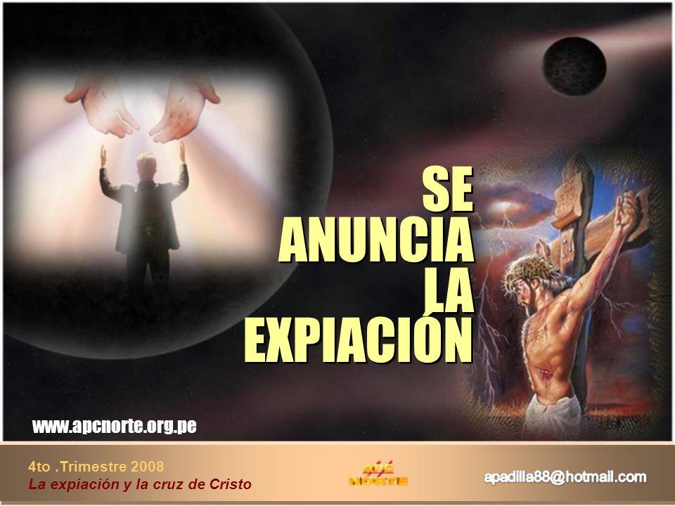SE ANUNCIA LA EXPIACIÓN
