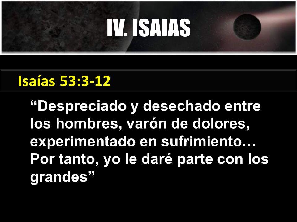 IV. ISAIAS Génesis 3:15 Isaías 53:3-12