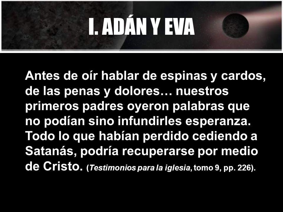I. ADÁN Y EVA