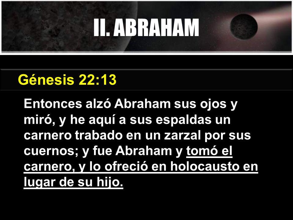 II. ABRAHAM Génesis 3:15 Génesis 22:13