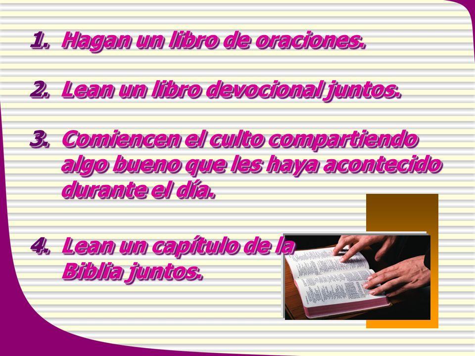1. Hagan un libro de oraciones.
