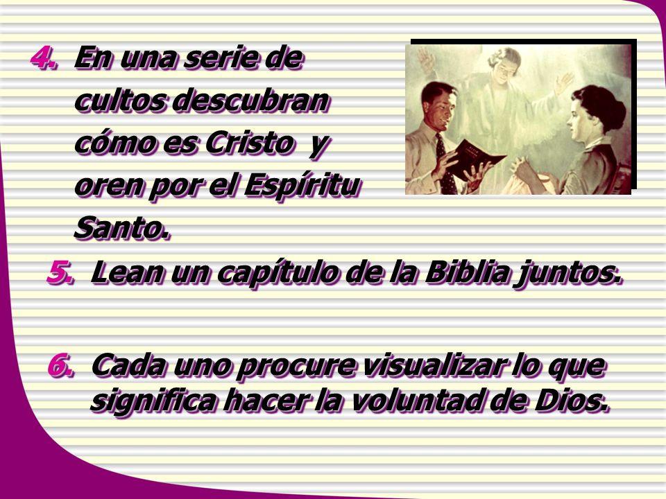 En una serie de cultos descubran cómo es Cristo y oren por el Espíritu Santo.
