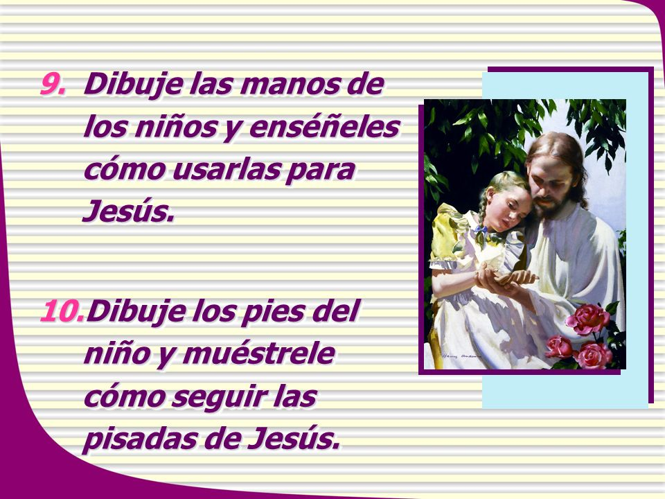 Dibuje las manos de los niños y enséñeles cómo usarlas para Jesús.