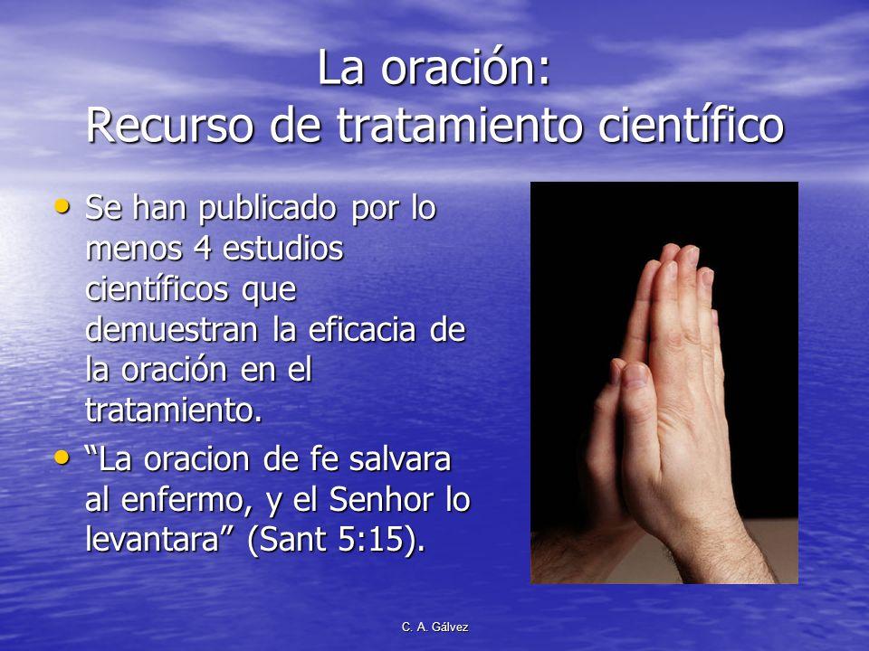 La oración: Recurso de tratamiento científico
