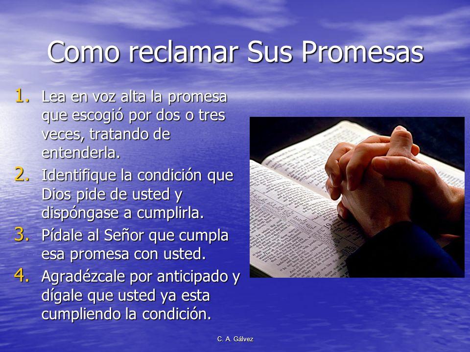 Como reclamar Sus Promesas