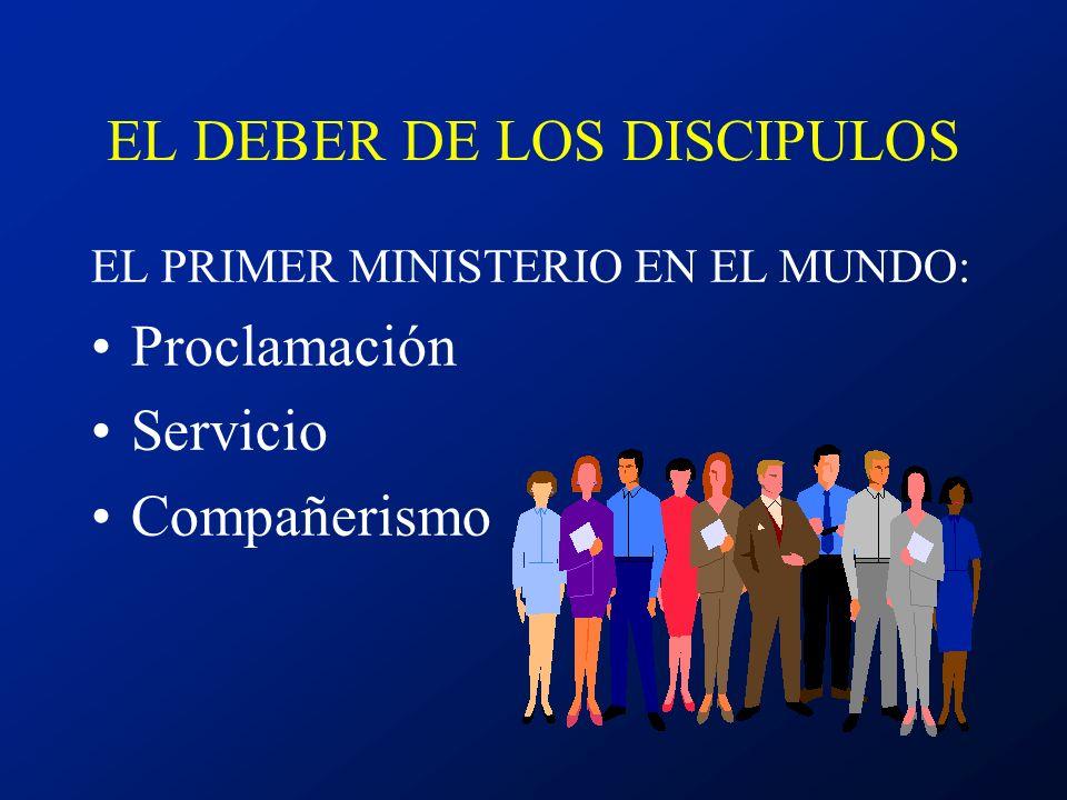 EL DEBER DE LOS DISCIPULOS