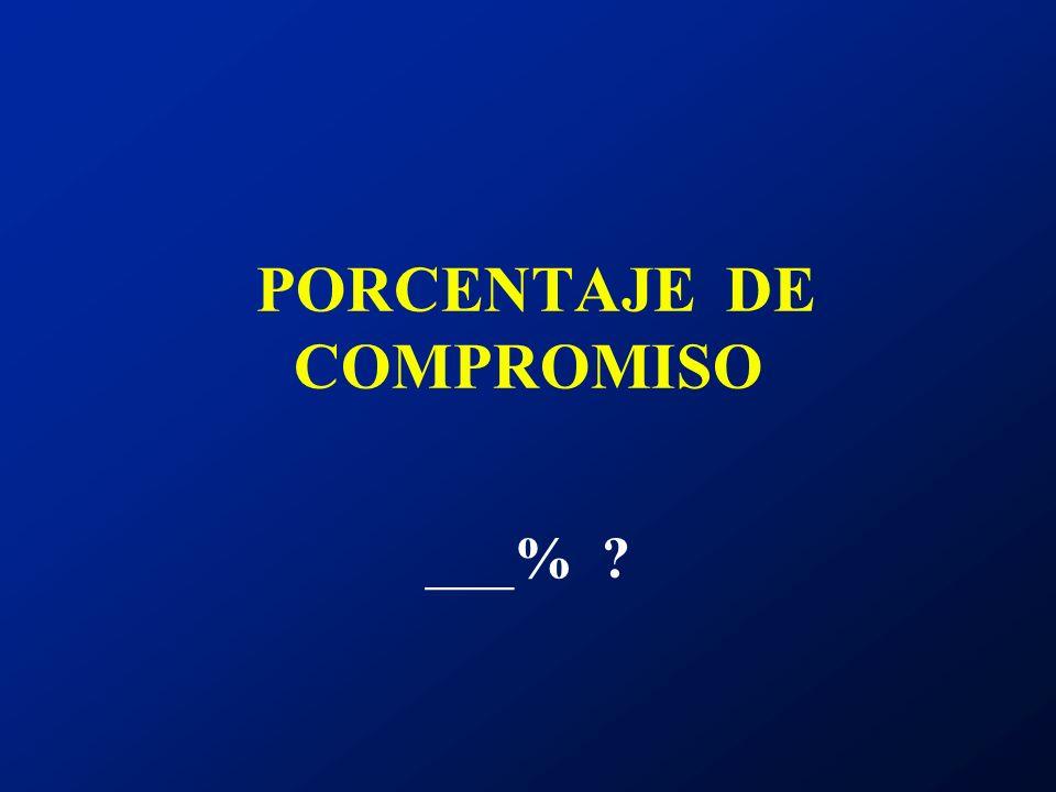 PORCENTAJE DE COMPROMISO