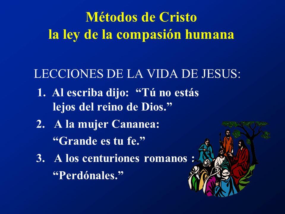 Métodos de Cristo la ley de la compasión humana