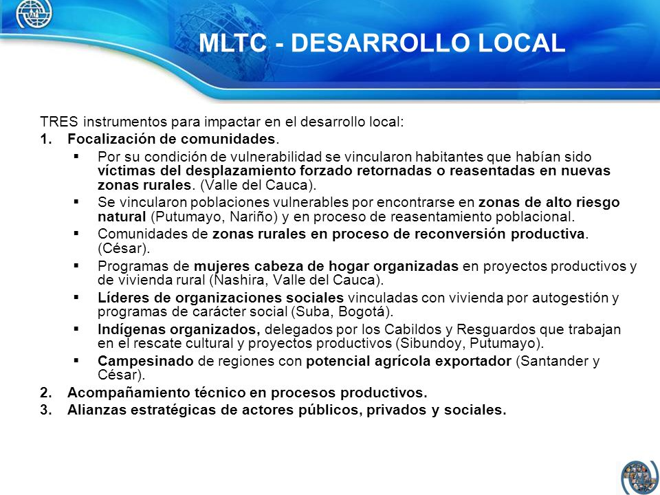 MLTC - DESARROLLO LOCAL