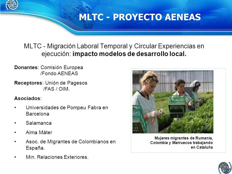 MLTC - PROYECTO AENEAS MLTC - Migración Laboral Temporal y Circular Experiencias en ejecución: impacto modelos de desarrollo local.