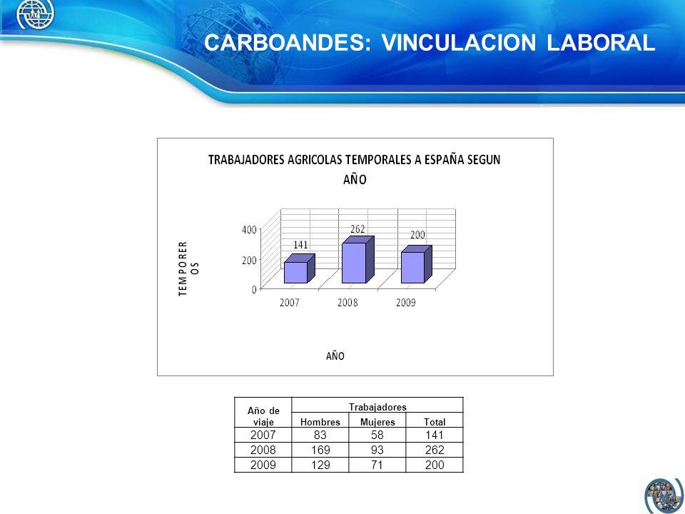 CARBOANDES: VINCULACION LABORAL