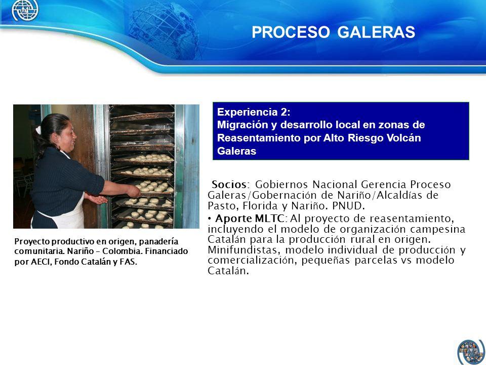 PROCESO GALERAS Experiencia 2: