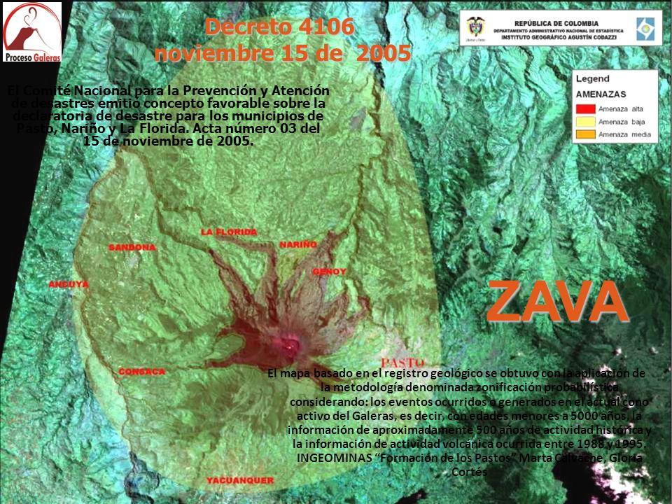 ZAVA Decreto 4106 noviembre 15 de 2005