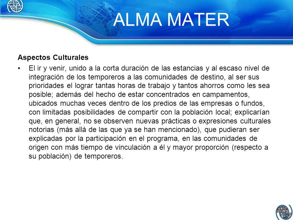 ALMA MATER Aspectos Culturales
