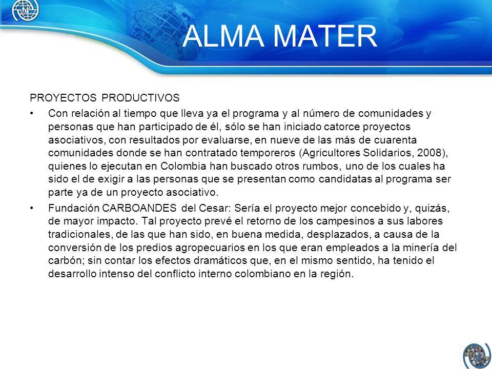 ALMA MATER PROYECTOS PRODUCTIVOS