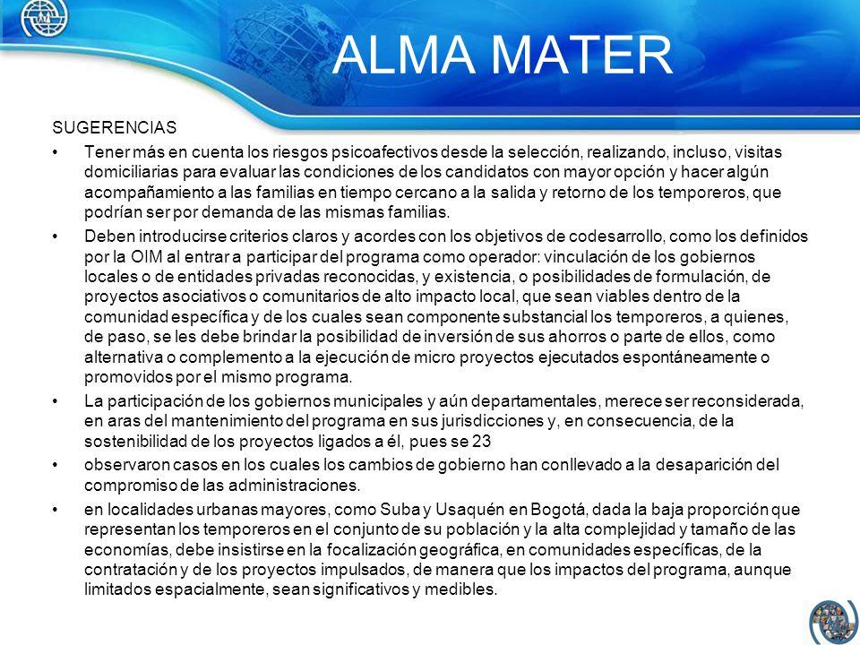 ALMA MATER SUGERENCIAS