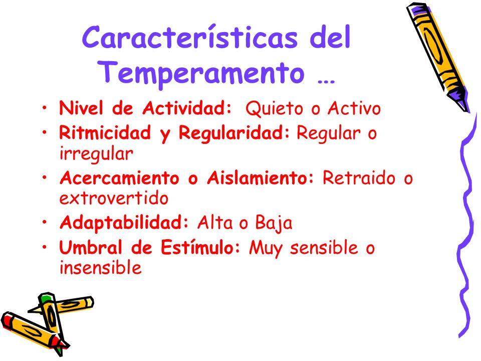 Características del Temperamento …