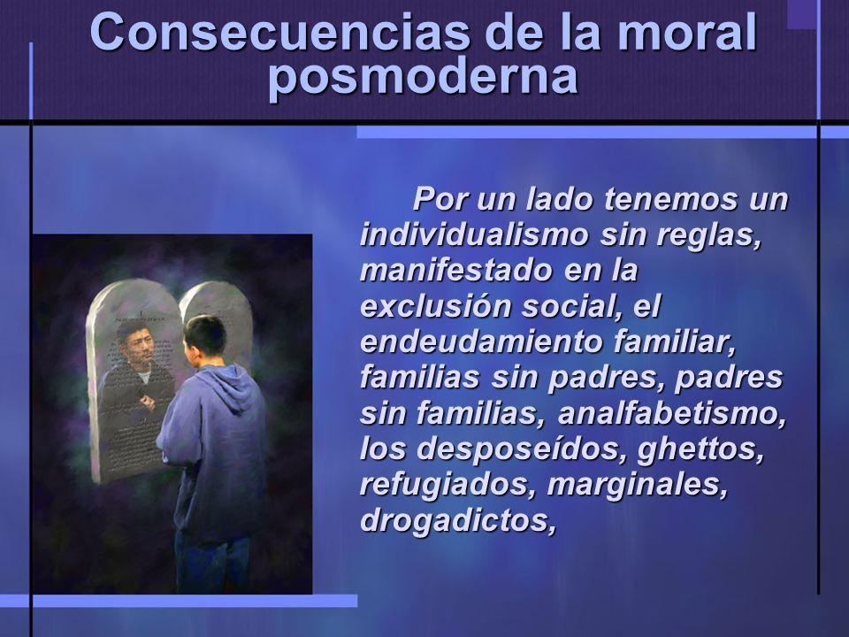Consecuencias de la moral posmoderna