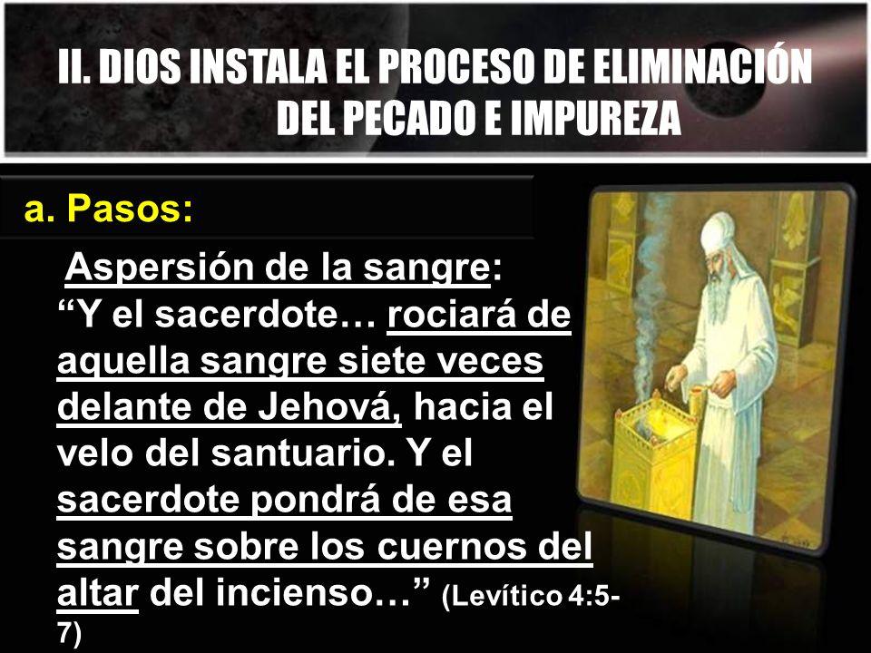 II. DIOS INSTALA EL PROCESO DE ELIMINACIÓN DEL PECADO E IMPUREZA